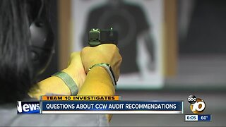 Questions about San Diego Sheriff's CCW audit recommendations