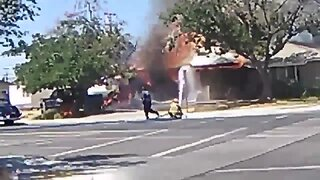 Ridgecrest House Fire Caused by Earthquake