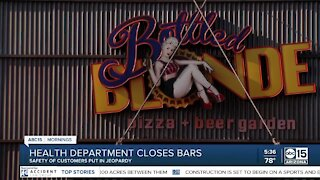 Health department closes Arizona bars shortly after reopening