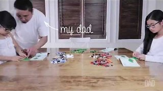 Father, Daughter and Niece Construct Happy Lego Memories - Video