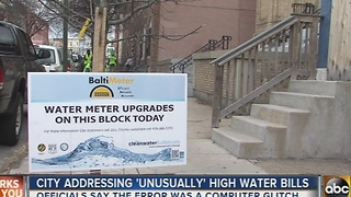 Baltimore water customers reporting unusually high water bills