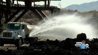 Landfill fire finally out, arson suspected - Video
