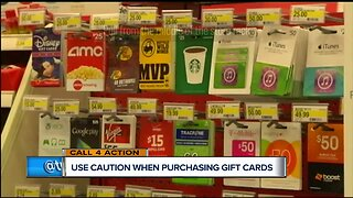 Use caution before purchasing gift cards