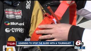Learning how to stop bleeding with a tourniquet - Video