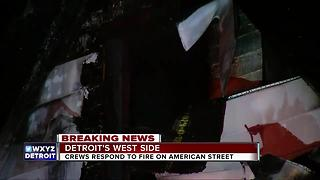Man jumps out of window during Detroit house fire