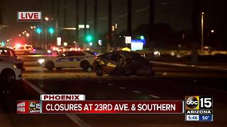 Man seriously hurt after multi-vehicle wreck in south Phoenix - Video