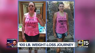 VIDEO: Valley woman loses 100 pounds