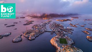 Bird's Eye View Of Norway's Picture Perfect Lofoten Islands - Video