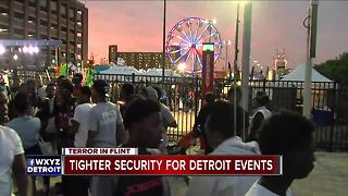 Tighter security for Detroit fireworks on Monday - Video