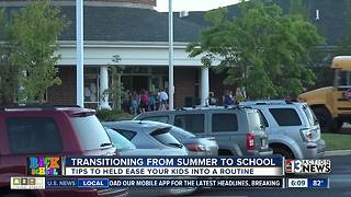 Helping your kids transition from summer time to school time - Video