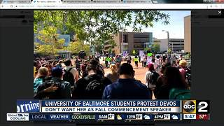 Baltimore students protest planned Betsy DeVos speech