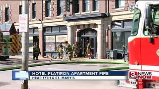 Hotel Flatiron fire contained to one apartment - Video