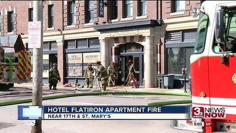 Hotel Flatiron fire contained to one apartment