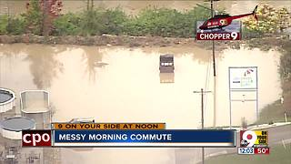 Mill Creek's high water means messy morning commute in Greater Cincinnati - Video