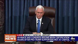 Vice President Pence remarks after resuming Biden certification