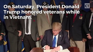 Trump Honors Veterans in Vietnam - Video