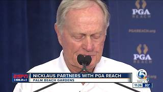 Nicklaus Partners With PGA Reach - Video