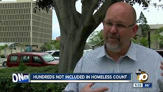 Hundreds not included in homeless county - Video