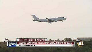 Second evacuated plane from China coming to MCAS Miramar