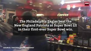 Looting, vandalism after big Philly Super Bowl win | FanBuzz - Video
