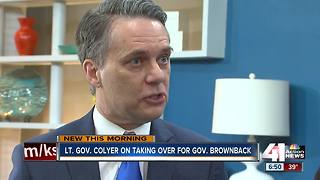 KS Lt. Gov. Colyer set to take over for Brownback - Video