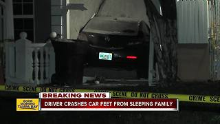 Car crashes into St. Pete home to avoid police - Video