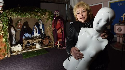 Heavenly bodies! Church volunteer accused of dismembering bodies by police – before officers realised they were christmas nativity mannequins