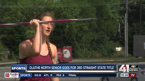 Olathe North senior looks for 3rd straight title