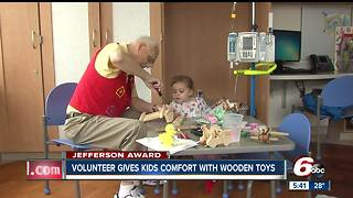 Jefferson Award: Volunteer gives kids comfort with wooden toys - Video