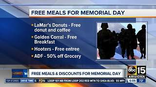 Discounts, freebies for veterans on Memorial Day - Video