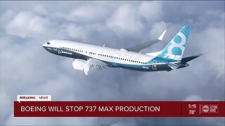 Boeing to temporarily suspend production of 737 Max airplanes