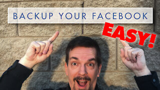 How to Backup Your ENTIRE Facebook Account Including Photos and Videos!