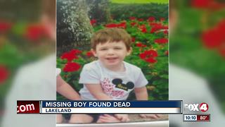Missing Lakeland Boy Found Dead - Video