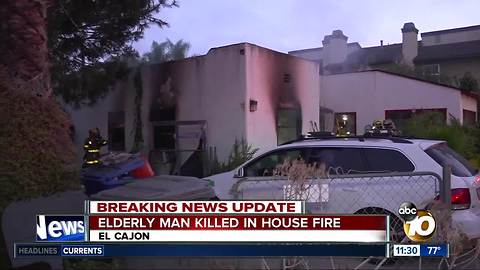Elderly man dies in El Cajon house fire