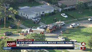 Three dead of carbon monoxide poisoning in Orlando - Video