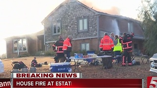 Crews Battling House Fire In Mt. Juliet - Video