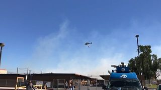Brush Fire Burns Close to Rancho Cucamonga's Etiwanda High School - Video
