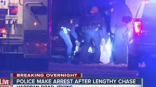 Police make arrest after lengthy car chase - Video