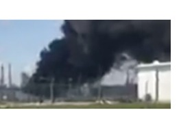 Port Arthur Valero Refinery Explosion Sends Up Large Black Smoke Plume - Video