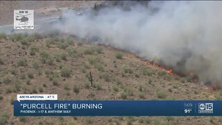 FD: Crews battling 'Purcell Fire' near Interstate-17 and Anthem Way