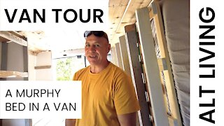 Van Life | A Murphy Bed in a van | Van Tour