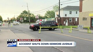 Crash shuts down Kenmore Avenue in Town of Tonawanda