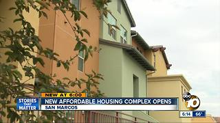 New affordable housing complex opens - Video