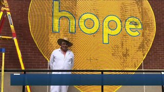 Local artist spreads messages of hope