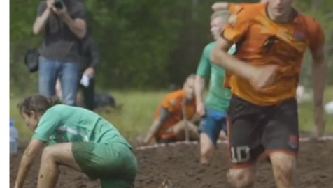 Forget the World Cup - Russian Athletes Battle for Glory in 'Swamp Soccer'