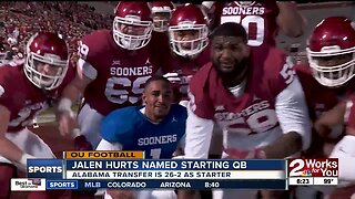 Jalen Hurts named Oklahoma's starting QB; Sooners slotted #4 in AP Preseason Poll