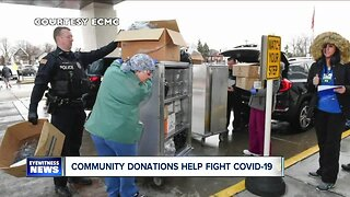 Community donations help in fight against covid-19