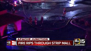 Fire rips through strip mall in Apache Junction