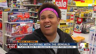 Christmas shopping with the Bengals - Video