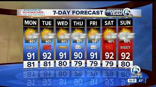 South Florida Monday afternoon forecast (8/7/17) - Video